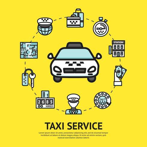 Taxi Service Abbildung vektor