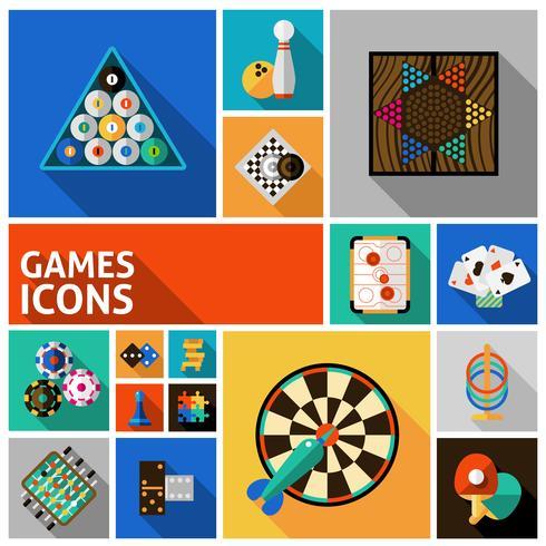 Spel ikoner ställa in vektor