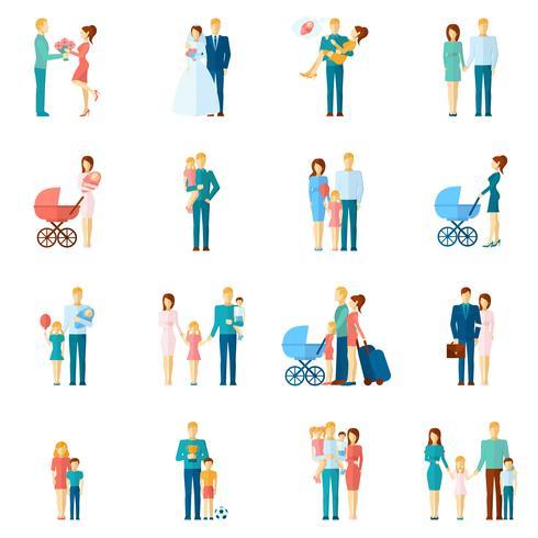 Ställ in familjemedlemmar vektor