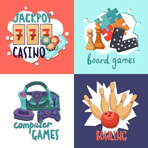 Game-Design-Konzept vektor