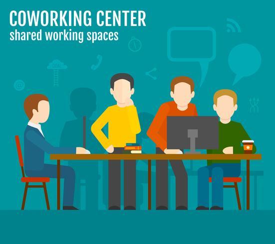 coworking center koncept vektor