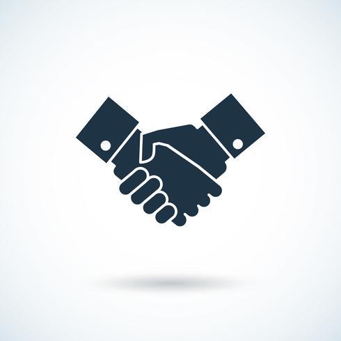 Handshake-Schatten-Symbol vektor