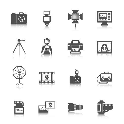 Fotograferade ikoner vektor