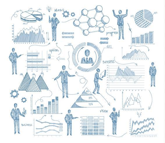 Skizze-Management-Konzept vektor