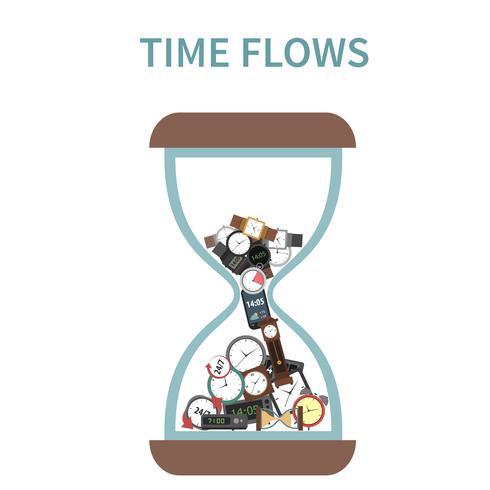 Zeit fließt Konzept vektor