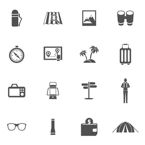 Touristische Icons Set vektor