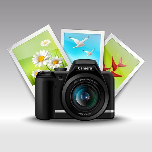 Kamera och bilder vektor