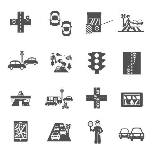 Ställ in trafik ikoner vektor