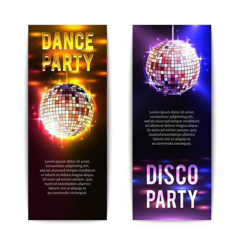 disco party banners vertikala vektor