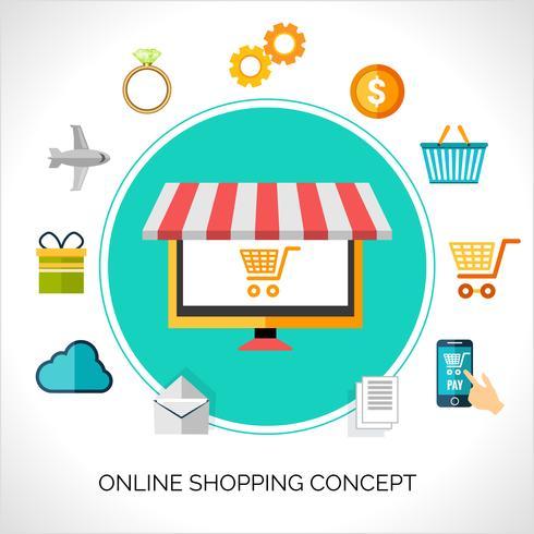 Online-Shopping-Konzept vektor