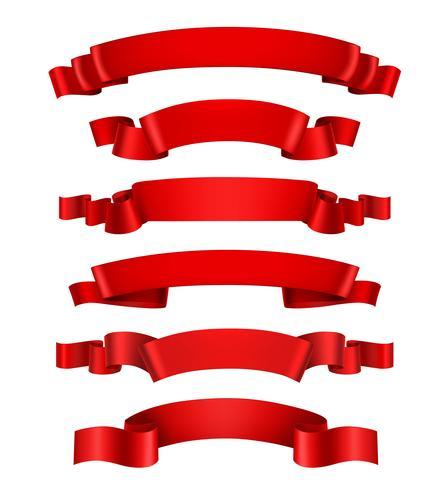 Realistische rote Bänder vektor