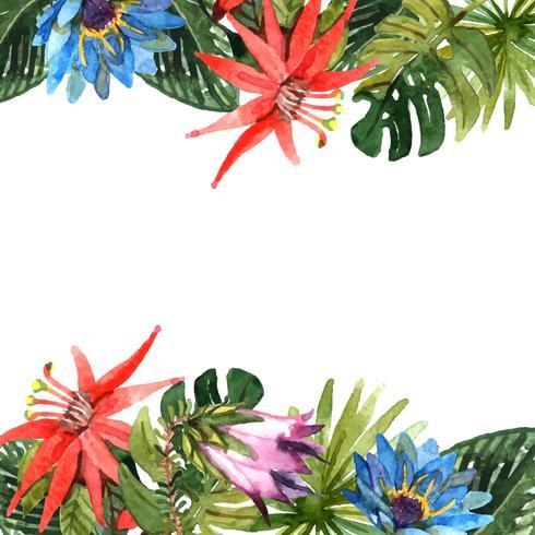 Tropiska löv illustration vektor
