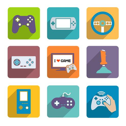 Videospel Controller Icons Set vektor