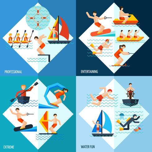 Vattensportset vektor