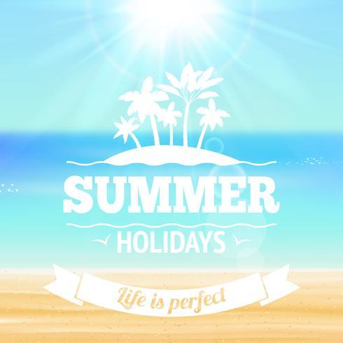 Sommerferien-Plakat vektor