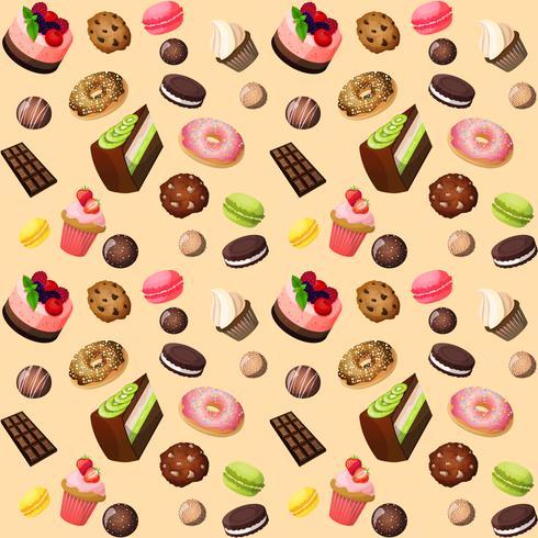 Süßigkeiten nahtlose Hintergrund vektor
