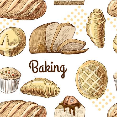 Baking sömlöst mönster vektor