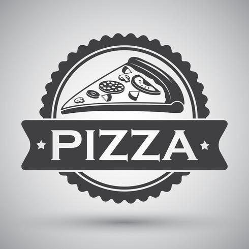 Pizza skiva emblem vektor