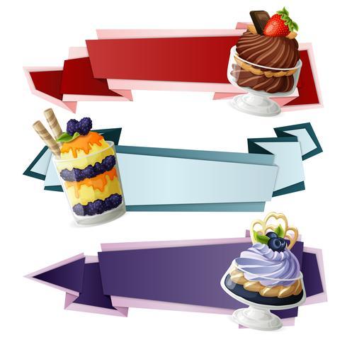 Süßigkeiten Papier Banner vektor