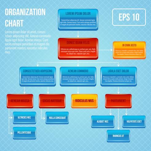 Organisationsdiagram 3d koncept vektor