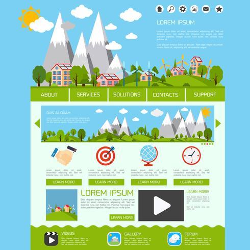 Eco webbsidans mall vektor