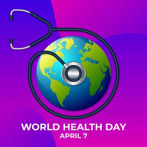 Weltgesundheitstag Logo Icon Design Template Illustration vektor