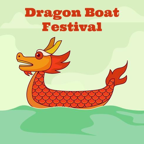 Drakbåtsfestivalen vektor