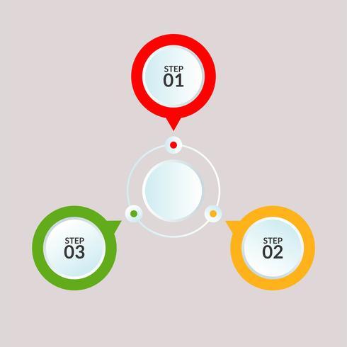 Infografik-Vorlage der Kreisverbindung für die Verwendung in Workflow-Diagrammplakaten vektor