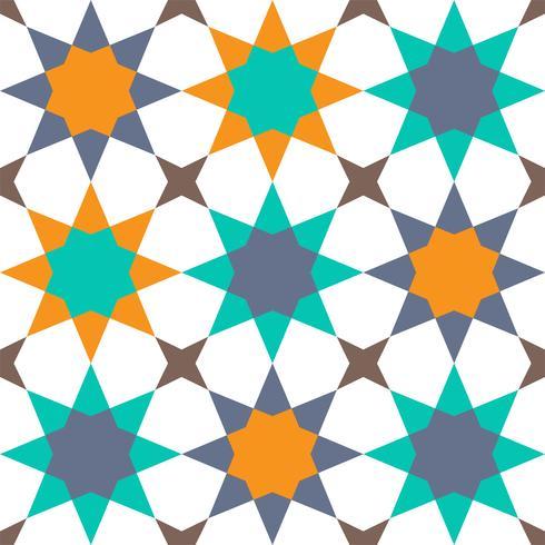 geometriskt sömlöst mönster islamisk stil vektor