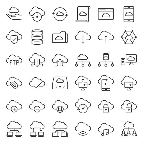 molnlagring och nätverk vektor