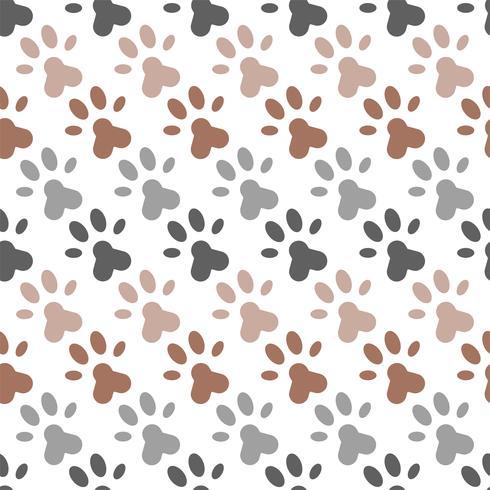 nahtloses Muster des Pfotenfußdrucks für Packpapier oder als Hintergrund vektor