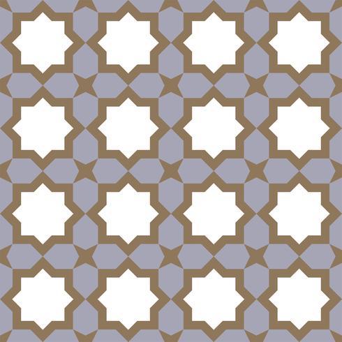 geometrisches nahtloses Muster islamischer Stil vektor