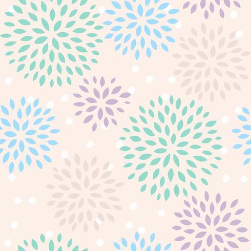 blommigt sömlöst mönster, platt design för användning som bakgrund, omslagspapper eller tapeter vektor