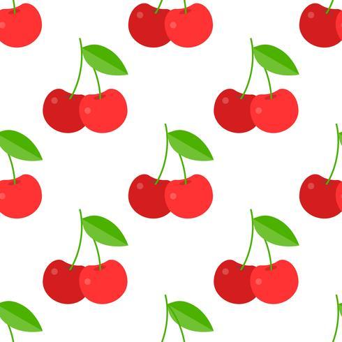 Körsbär sömlös mönster för användning som inslagspapper eller tapeter vektor