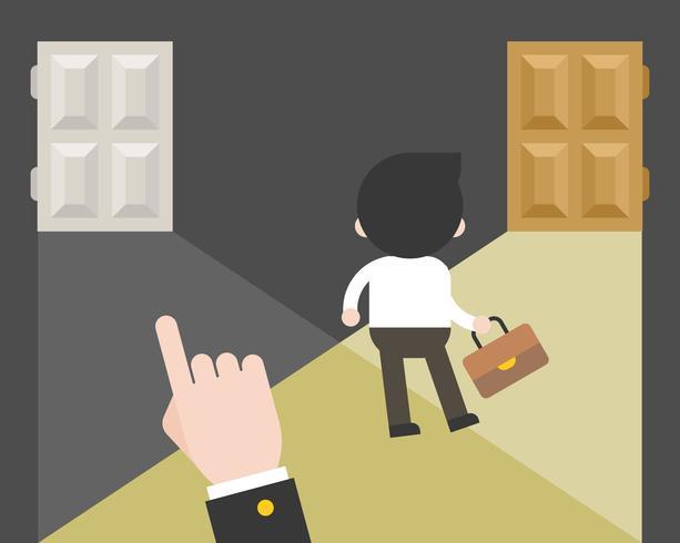 Affärsman väljer själv sin karriärväg vektor