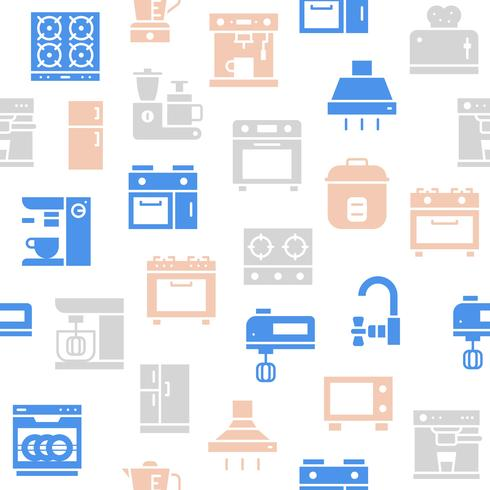 Nahtloses Muster des Küchengeräts für Tapete oder Packpapier vektor