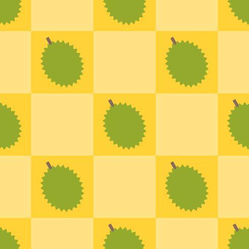 Durian sömlöst mönster för användning som inslagspapper vektor