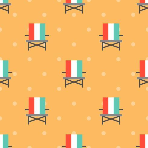 Nahtloses Muster des Strandstuhls für Gebrauch als Packpapiergeschenk vektor