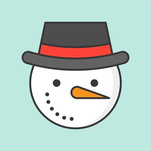 Schneemann und Hut, gefüllte Gliederung Symbol Weihnachten Thema vektor