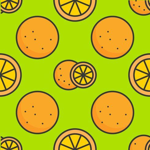 fylld kontur apelsin Sömlös mönster, sommar tema bakgrund vektor