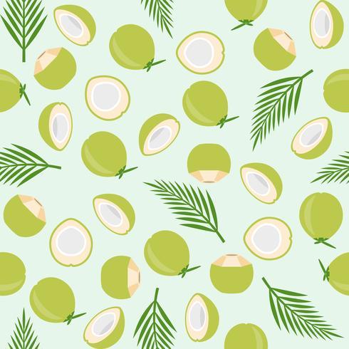 kokosnöt sömlöst mönster, ö tema för tapeter eller papper vektor