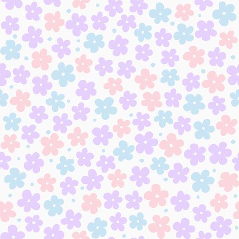 nahtloses Blumenmuster, flaches Design als Hintergrund, Geschenkpapier oder Tapete vektor