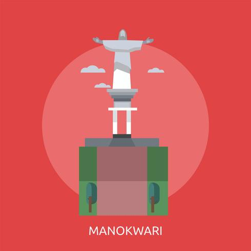 Manokwari Konceptuell illustration Design vektor