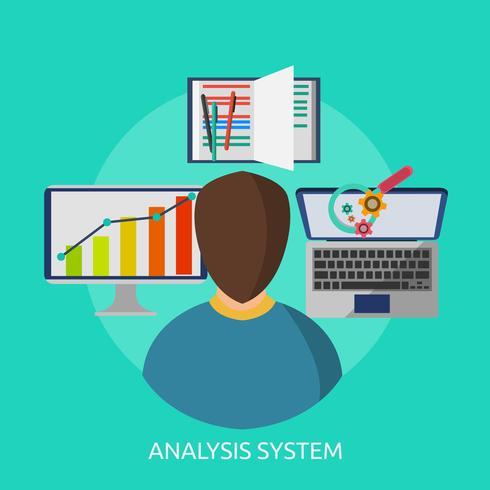 Analyssystem Konceptuell illustration Design vektor