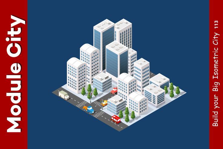 Isometrisk 3D landskapstopp vektor