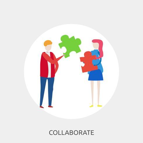 Samarbeta konceptuell illustration Design vektor