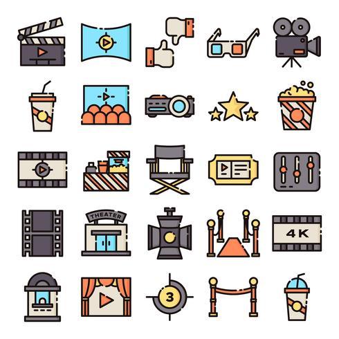 Kino-Icons packen vektor