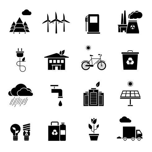Ekologiska ikoner vektor