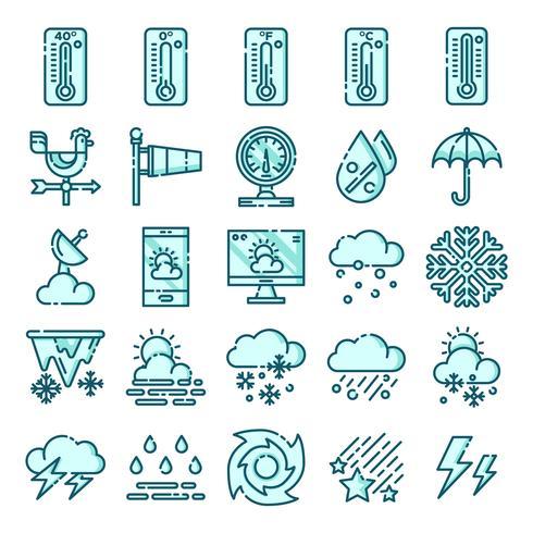Wetterikonen packen vektor