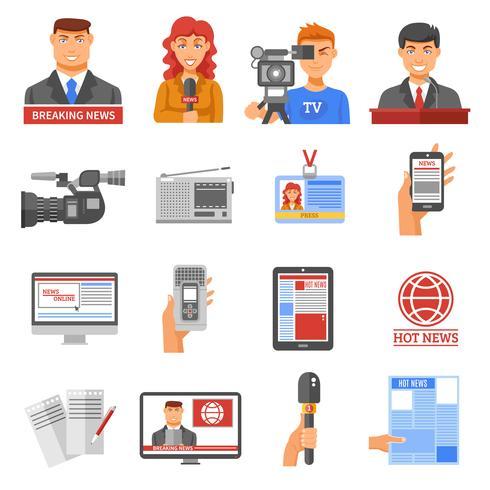Medien Icons Set vektor